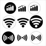 Εικονίδια WI-Fi Στοκ Εικόνα