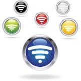 Εικονίδια WiFi Στοκ φωτογραφίες με δικαίωμα ελεύθερης χρήσης
