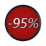 Εικονίδιο ` έκπτωσης - 95% ` Απομονωμένη γραφική απεικόνιση τρισδιάστατη απόδοση Στοκ Φωτογραφία