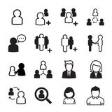 εικονίδιο ένα καθορισμένη εργασία χρηστών προσώπων ανθρώπων Στοκ φωτογραφίες με δικαίωμα ελεύθερης χρήσης