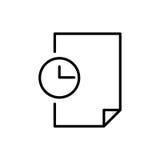 Εικονίδιο ή λογότυπο εγγράφων ασφαλίστρου στο ύφος γραμμών Στοκ Εικόνες