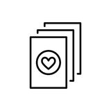 Εικονίδιο ή λογότυπο εγγράφων ασφαλίστρου στο ύφος γραμμών Στοκ φωτογραφία με δικαίωμα ελεύθερης χρήσης