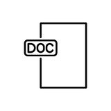 Εικονίδιο ή λογότυπο εγγράφων ασφαλίστρου στο ύφος γραμμών Στοκ εικόνες με δικαίωμα ελεύθερης χρήσης