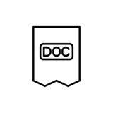 Εικονίδιο ή λογότυπο εγγράφων ασφαλίστρου στο ύφος γραμμών Στοκ εικόνα με δικαίωμα ελεύθερης χρήσης