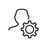 Εικονίδιο ή λογότυπο χρηστών ασφαλίστρου στο ύφος γραμμών Στοκ φωτογραφία με δικαίωμα ελεύθερης χρήσης