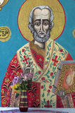 Εικονίδιο Αγίου στη Ορθόδοξη Εκκλησία Στοκ Φωτογραφία