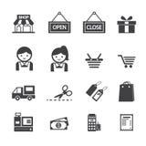 Εικονίδιο αγορών Στοκ εικόνα με δικαίωμα ελεύθερης χρήσης