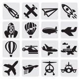 Εικονίδιο αεροπλάνων Στοκ Εικόνες