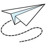 Εικονίδιο αεροπλάνων εγγράφου απεικόνιση αποθεμάτων