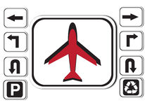 Εικονίδιο αεροπλάνων Στοκ φωτογραφία με δικαίωμα ελεύθερης χρήσης