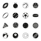 Εικονίδιο αθλητικών σφαιρών που τίθεται στο άσπρο υπόβαθρο Στοκ φωτογραφίες με δικαίωμα ελεύθερης χρήσης