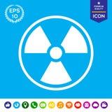 Εικονίδιο ακτινοβολίας ιονισμού Στοκ Εικόνες
