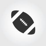 Εικονίδιο αμερικανικού ποδοσφαίρου, επίπεδο σχέδιο Στοκ Εικόνες