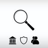 Εικονίδιο αναζήτησης, διανυσματική απεικόνιση Επίπεδο ύφος σχεδίου Στοκ φωτογραφίες με δικαίωμα ελεύθερης χρήσης