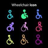 Εικονίδιο αναπηρικών καρεκλών Στοκ Φωτογραφία