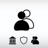 Εικονίδιο ανθρώπων, διανυσματική απεικόνιση Επίπεδο ύφος σχεδίου Στοκ εικόνες με δικαίωμα ελεύθερης χρήσης