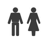 Εικονίδιο ανδρών και γυναικών ελεύθερη απεικόνιση δικαιώματος