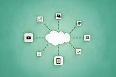 Εικονίδιο αποθήκευσης σύννεφων Στοκ φωτογραφία με δικαίωμα ελεύθερης χρήσης