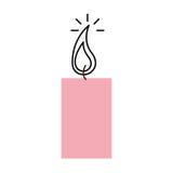 Εικονίδιο αρώματος therapy candle spa διανυσματική απεικόνιση