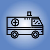 Εικονίδιο ασθενοφόρων Επίπεδο σχέδιο Στοκ φωτογραφίες με δικαίωμα ελεύθερης χρήσης