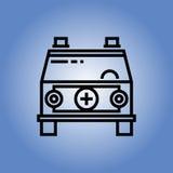 Εικονίδιο ασθενοφόρων Επίπεδο σχέδιο Στοκ Εικόνα