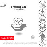 Εικονίδιο ασφάλειας υγείας Στοκ φωτογραφία με δικαίωμα ελεύθερης χρήσης
