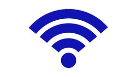 Εικονίδιο ασύρματων δικτύων ραδιόφωνο WI συμβόλων δικτύων RF FI εξοπλισμού συνδέσμων απεικόνιση αποθεμάτων