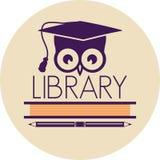 Εικονίδιο βιβλιοθήκης Στοκ φωτογραφίες με δικαίωμα ελεύθερης χρήσης