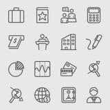 Εικονίδιο γραμμών επιχειρήσεων και χρηματοδότησης απεικόνιση αποθεμάτων