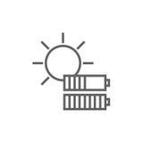 Εικονίδιο γραμμών ηλιακής ενέργειας Στοκ φωτογραφίες με δικαίωμα ελεύθερης χρήσης