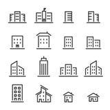 Εικονίδιο γραμμών κτηρίου Στοκ εικόνες με δικαίωμα ελεύθερης χρήσης