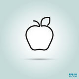 Εικονίδιο γραμμών της Apple Στοκ φωτογραφία με δικαίωμα ελεύθερης χρήσης