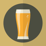 Εικονίδιο γυαλιού μπύρας στοκ εικόνα