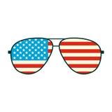 Εικονίδιο γυαλιών αμερικανικών σημαιών Στοκ Εικόνες