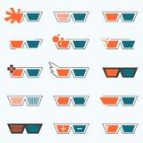 Εικονίδιο γυαλιών Στοκ Εικόνα