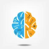 Εικονίδιο εγκεφάλου διανυσματική απεικόνιση