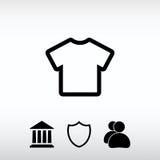 Εικονίδιο εικονιδίων μπλουζών, διανυσματική απεικόνιση Επίπεδο ύφος σχεδίου Στοκ Εικόνα