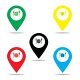 Εικονίδιο δεικτών χαρτών για τα τρόφιμα Στοκ Εικόνα
