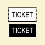 Εικονίδιο εισιτηρίων που απομονώνεται Στοκ εικόνα με δικαίωμα ελεύθερης χρήσης