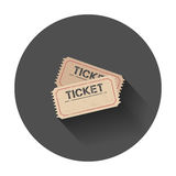 Εικονίδιο εισιτηρίων Στοκ Εικόνα