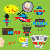 Εικονίδιο ειδήσεων απεικόνιση αποθεμάτων