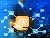 Εικονίδιο εκμετάλλευσης επιχειρηματιών του κοινωνικού δικτύου Στοκ εικόνες με δικαίωμα ελεύθερης χρήσης