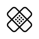 Εικονίδιο ενίσχυσης ασβεστοκονιάματος ή ζωνών Ιατρικό σύμβολο μπαλωμάτων Στοκ εικόνες με δικαίωμα ελεύθερης χρήσης