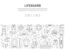 Εικονίδιο εξοπλισμού Lifeguard Στοκ Φωτογραφίες