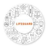 Εικονίδιο εξοπλισμού Lifeguard Στοκ φωτογραφία με δικαίωμα ελεύθερης χρήσης