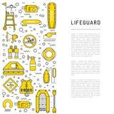 Εικονίδιο εξοπλισμού Lifeguard Στοκ Εικόνα