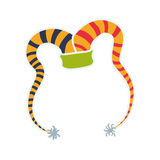 Εικονίδιο εορτασμού καρναβαλιού καπέλων arlequin σαν διανυσματικά κύματα στροβίλου ανασκόπησης διακοσμητικά γραφικά τυποποιημένα απεικόνιση αποθεμάτων