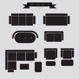 Εικονίδιο επίπλων καναπέδων Στοκ εικόνες με δικαίωμα ελεύθερης χρήσης