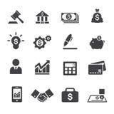 Εικονίδιο επιχειρήσεων και χρηματοδότησης Στοκ εικόνα με δικαίωμα ελεύθερης χρήσης