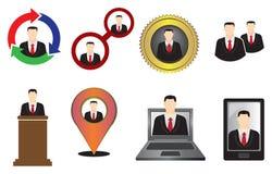 Εικονίδιο επιχειρηματιών και διανυσματική απεικόνιση συμβόλων Στοκ Φωτογραφία